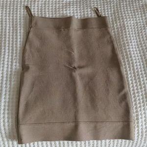 BCBG gold skirt